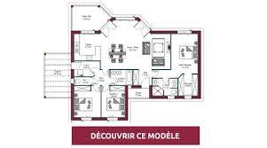 plan maison plain pied maisons mca