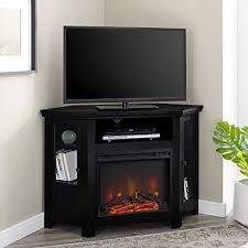 corner tv stand fireplace console
