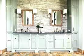 rustic wood bathroom vanity mirror