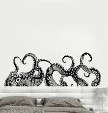 Vinyl Wall Decal Tentacles Octopus Kraken Marine Monster Stickers Ig4299 Ebay