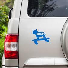 Bulldog Skate Board Vinyl Car Decal Car Rear Window Decal Etsy