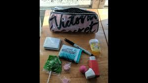 my pregnancy emergency kit makeup bag