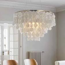 seashell pendant lamp fixture e27
