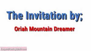 invitation by oriah mountain dreamer