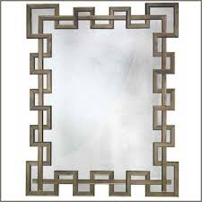 large bronze mirror with angular frame