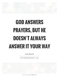 god answers prayer quotes sayings god answers prayer picture