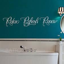 Battoo Bathroom Wall Decal Relax Refresh Renew Vinyl Wall Lettering Bathroom For Sale Online