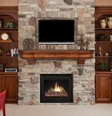 tv over fireplace make tv above