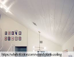 plank ceiling whirl of color