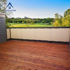 Alion Home 3ft Tall Custom Sized Privacy Screen Beige W Black Trim Alion Home Inc