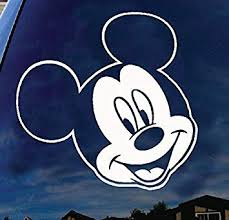 Amazon Com Mickey Mouse Head Goofy Disney Characters Car Truck Laptop Window Decal Sticker 6 Inches White Automotive