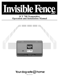 Ict 700 Transmitter Operation And Installation Manual