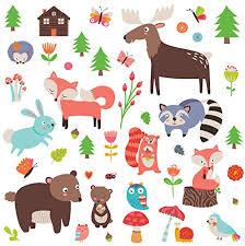 Woodland Animals Decorative Peel Stick Wall Art Sticker Decals For Kids Room Or Nursery Walmart Canada