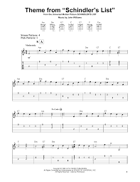 Theme From Schindler's List by John Williams - Easy Guitar Tab ...