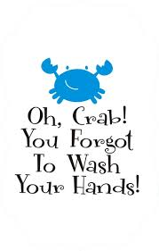 Oh Crab Bathroom Wall Decal Quote The Walls