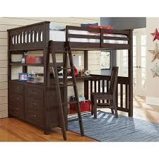 Ne Kids Highlands Full Slat Loft Bed With Desk And Dresser In Espresso Walmart Com Walmart Com
