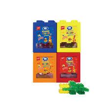 Combo 4 Kẹo dẻo đồ chơi xếp hình 4D hộp 40g Greenbox Online