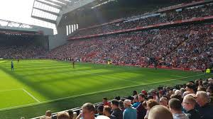 anfield section 124 home of liverpool fc
