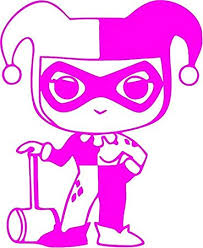 Amazon Com Family Connections Harley Quinn Chibi Vinyl Decal Sticker For Window Car Truck Boat Laptop Iphone Motorcycle Gaming Console Size 13 09 X 16 Neon Pink Automotive