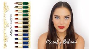 loreal x balmain lip swatch review
