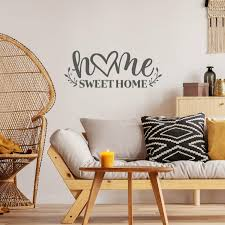 Home Sweet Home Quote Vinyl Wall Decal Sticker Words Lettering Art Decor For Sale Online