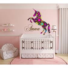Shop Nursery Decal Unicorn Decal Sticker Animal Decal Multi Color Full Sticker Decal Size 33x45 Overstock 13998373