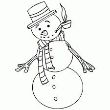 Sneeuwman Kleurplaat Simpel Archidev Simpele Kleurplaat Winter