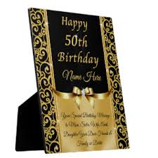 50th birthday plaques signs zazzle