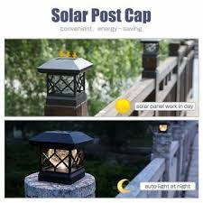 Twinsluxes Ish09 M860465mn Solar Post Cap Lights Outdoor Waterproof Led Fence Post Solar Lights For 4x4 Wood Posts In Patio Deck Or Garden Decoration 2