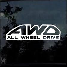 Awd All Wheel Drive Subaru Sti Forester Wrx Window Decal Sticker Custom Sticker Shop