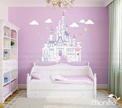 Disney Princess Castle With Colorful Birds And Squirrel Large Etsy