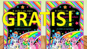 Invitacion Imprimible Pequeno Pony O My Little Pony Gratis
