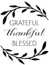 Amazon Com Grateful Thankful Blessed Wall Art Decal Quote Words Lettering Decor Kitchen Dining