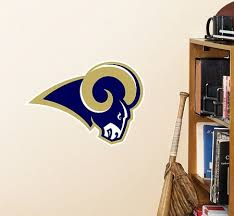 Nfl St Louis Rams Logo Fathead Wall Decal 15 X 12inches Blue You Can Find Out More Details At The Link Of The Image St Louis Rams Nfl Logo Wall Decals
