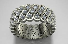 3d printed diamond ring jewelry by