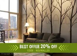 Winter Tree Wall Decal Living Room Wall Decals Wall Sticker Etsy