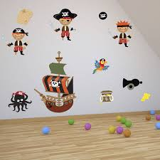 Giant Pirate Ship Wall Decal Personalized Name Horse Wall Stickers Independence