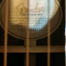 Fender GD-47SCE NAT Natural   Aaron Graley   Reverb
