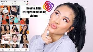 how to film insram make up videos