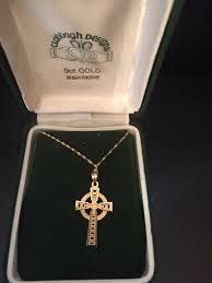 celtic cross necklace 9k gold kitty s