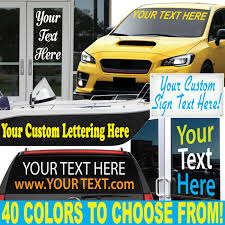 9 High By Up To 54 Long Custom Vinyl Lettering Etsy