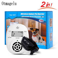 2 In 1 Wireless Electronic Pet Dog Fence Indoor Pet Barriers Management System With Pest Repellent Dog Training Collar Receivers Training Collars Aliexpress