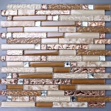 brown glass mosaic and resin conch tile