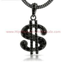 sp1013b small black dollar sign chain