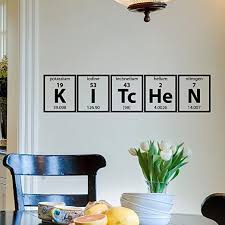Amazon Com Wall Decal Vinyl Sticker Kitchen Periodic Table Elements Cooking Vinyl Lettering Wall Decals Murals Home Decor For Kitchen M008 Kitchen Dining