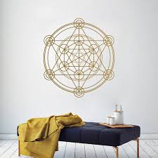 Sacred Geometry Wall Decal Metatron S Cube Alchemy Geometric Wall Vinyl Sticker Mural Poster For Wall Line Circle Mandala J014 Akolzol Com