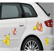 60pcs Car Styling Pokemon Go Funny Car Stickers And Decals Motorcycle Accessories Auto Audi Pokeball Car Window Sticker Design Pikachu Waterproof Wish