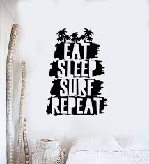 Vinyl Wall Decal Surfing Beach Style Teen Room Eat Sleep Surf Repeat S Wallstickers4you