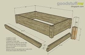 raised garden bed plans wood plans diy