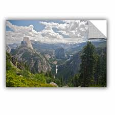 Artwall Yosemite Half Dome Vernal Falls And Nevada Falls By Dan Wilson Removable Wall Decal Wayfair
